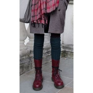 Dr martens tall red lace up boots